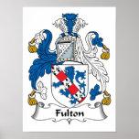 Escudo de la familia de Fulton Poster