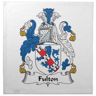 Escudo de la familia de Fulton Servilletas De Papel