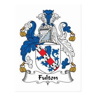 Escudo de la familia de Fulton Tarjeta Postal