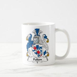 Escudo de la familia de Fulton Taza Básica Blanca