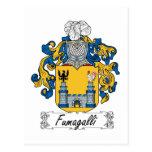Escudo de la familia de Fumagalli Tarjeta Postal