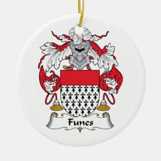Escudo de la familia de Funes Adorno Redondo De Cerámica