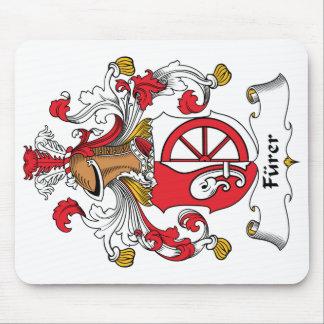 Escudo de la familia de Furer Alfombrillas De Ratón