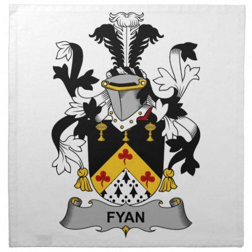 Escudo de la familia de Fyan Servilletas