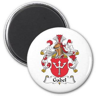 Escudo de la familia de Gabel Imán Redondo 5 Cm