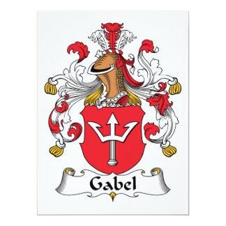 """Escudo de la familia de Gabel Invitación 6.5"""" X 8.75"""""""