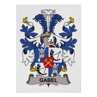 Escudo de la familia de Gabel Posters