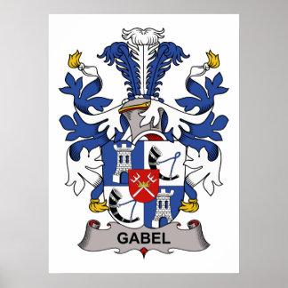 Escudo de la familia de Gabel Póster