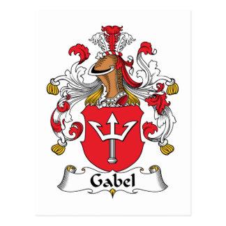 Escudo de la familia de Gabel Tarjeta Postal