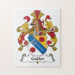 Escudo de la familia de Gabler Rompecabezas Con Fotos