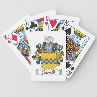 Escudo de la familia de Gabrielli Baraja Cartas De Poker