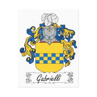 Escudo de la familia de Gabrielli Impresión En Lienzo Estirada