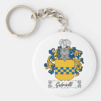 Escudo de la familia de Gabrielli Llaveros Personalizados