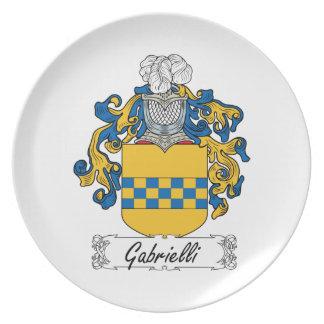Escudo de la familia de Gabrielli Platos De Comidas