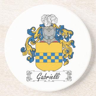 Escudo de la familia de Gabrielli Posavasos Para Bebidas