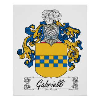 Escudo de la familia de Gabrielli Posters