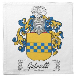 Escudo de la familia de Gabrielli Servilletas Imprimidas