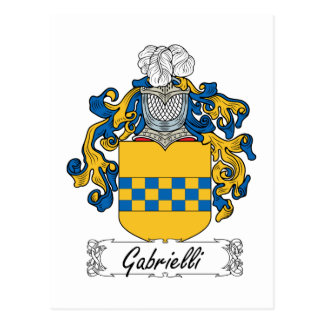 Escudo de la familia de Gabrielli Tarjetas Postales