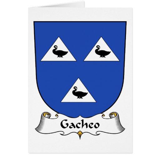 Escudo de la familia de Gacheo Tarjeta