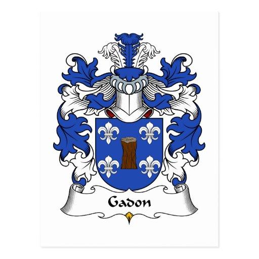 Escudo de la familia de Gadon Postal