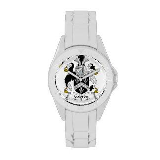 Escudo de la familia de Gadsby Relojes