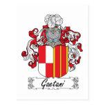 Escudo de la familia de Gaetani Postal