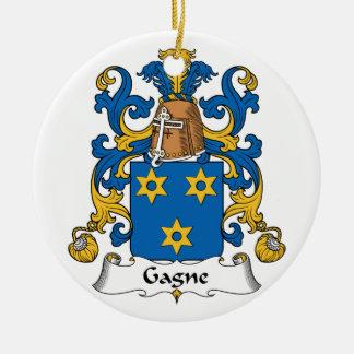 Escudo de la familia de Gagne Adornos De Navidad
