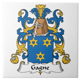 Escudo de la familia de Gagne Azulejos Ceramicos