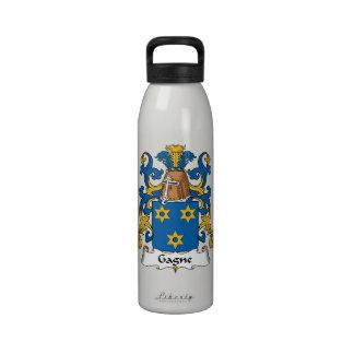 Escudo de la familia de Gagne Botella De Agua