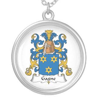 Escudo de la familia de Gagne Colgantes Personalizados