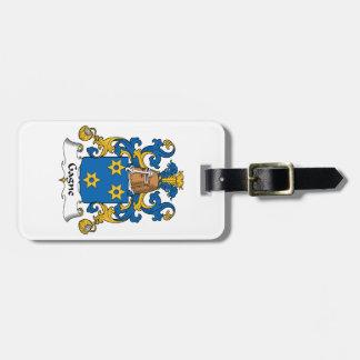 Escudo de la familia de Gagne Etiquetas Bolsa