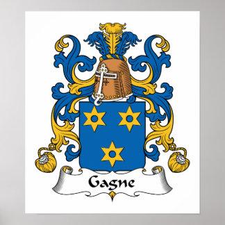 Escudo de la familia de Gagne Impresiones