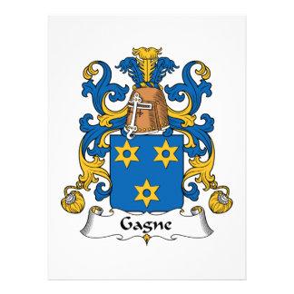 Escudo de la familia de Gagne Comunicados Personales