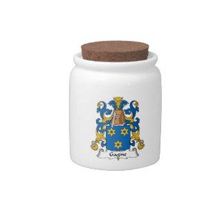 Escudo de la familia de Gagne Jarra Para Caramelo