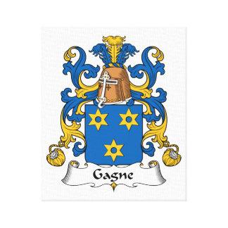 Escudo de la familia de Gagne Impresiones En Lienzo Estiradas