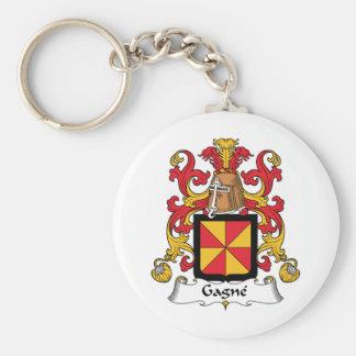 Escudo de la familia de Gagne Llaveros Personalizados