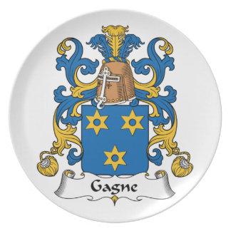 Escudo de la familia de Gagne Plato De Cena
