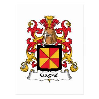 Escudo de la familia de Gagne Postales