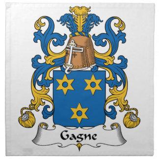 Escudo de la familia de Gagne Servilletas De Papel