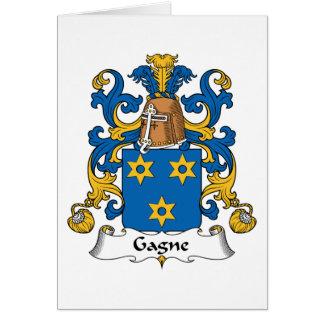 Escudo de la familia de Gagne Tarjetas
