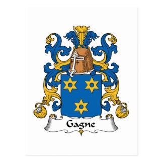 Escudo de la familia de Gagne Tarjetas Postales