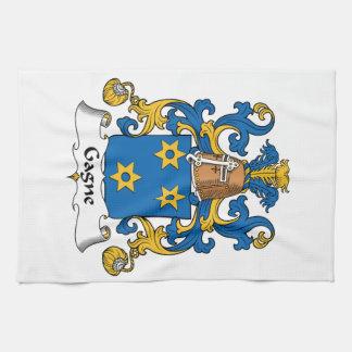 Escudo de la familia de Gagne Toallas De Mano