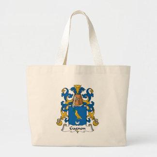 Escudo de la familia de Gagnon Bolsa Tela Grande