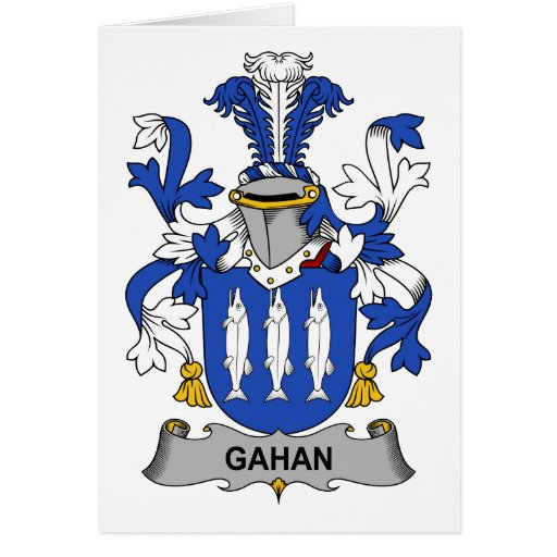 Escudo de la familia de Gahan Tarjetón