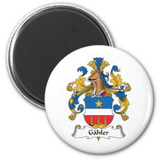 Escudo de la familia de Gahler Imán Redondo 5 Cm