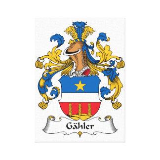 Escudo de la familia de Gahler Impresion En Lona