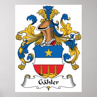 Escudo de la familia de Gahler Poster