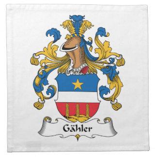 Escudo de la familia de Gahler Servilletas De Papel