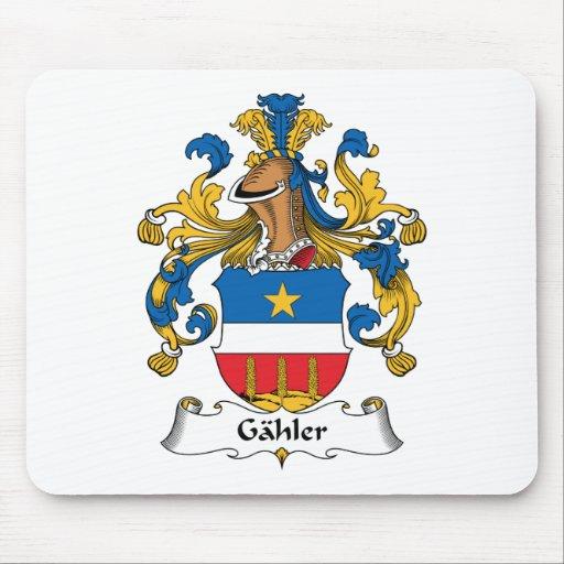 Escudo de la familia de Gahler Alfombrillas De Ratón