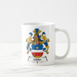 Escudo de la familia de Gahler Taza De Café
